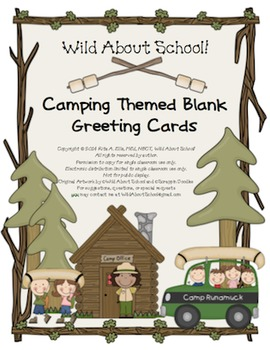 Camping Christmas Cards.Camping Blank Greeting Cards W Matching Envelopes