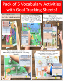 Camping, Bug, Kitchen, Market, & Farm Vocabulary Activities with Data Sheets!