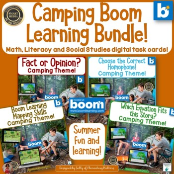 Camping Bundle with BOOM Learning Digital Task Cards