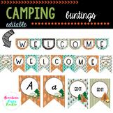 Camping- Buntings (Editable)