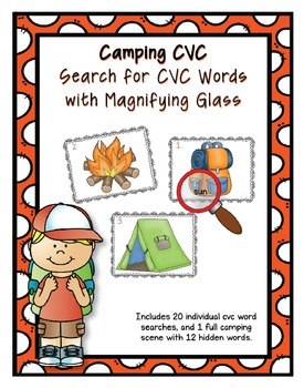 Camping CVC Word Search