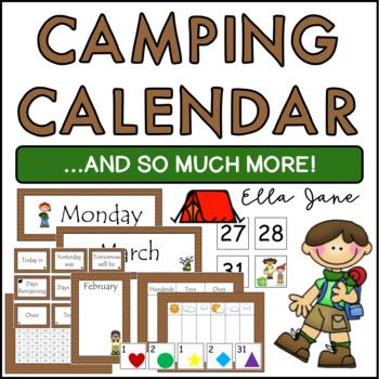 Camping Calendar Bulletin Board Set