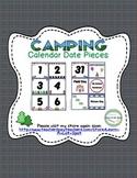 Camping Calendar Date {Number} Pieces