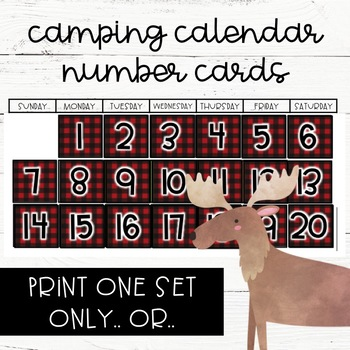 Camping Calendar Number Cards