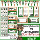 Camping Calendar Set and Classroom Decorations {Spanish Version}
