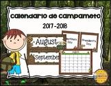 Camping Calendar- Spanish Version