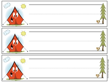 Camping Camp Theme Name Plates for Desk or Table