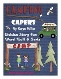 Camping Capers Word Wall & Sorts (Words from Division Story Problems)