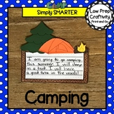 Camping Writing Cut and Paste Craftivity