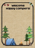 Camping Class List and Welcome Banner