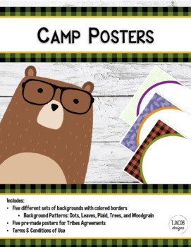 Camping Classroom Background