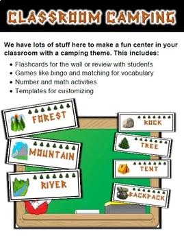 Camping Classroom Center Bundle