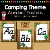 Camping Classroom Decor Alphabet Posters Italics