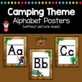 Camping Classroom Decor Alphabet Posters Manuscript