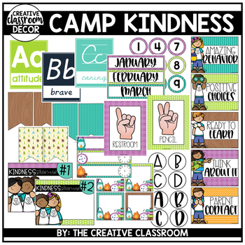 Camping Classroom Decor - Camp Kindness