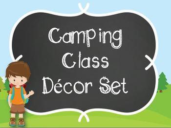 Camping Classroom Decor-Editable!