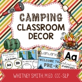 Camping Classroom Decor Editable Powerpoint Mega Bundle