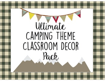 Camping Classroom Decor Pack