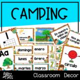 Camping Classroom Decor (SPANISH)