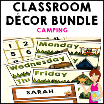 Camping Classroom Decor Theme Bundle