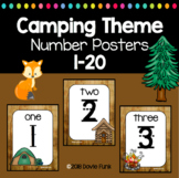 Camping Classroom Decor Theme Number Posters 1-20