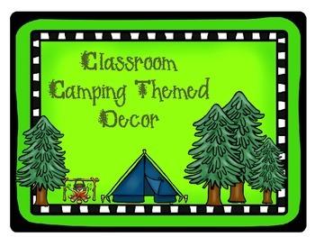 Camping Classroom Decorations