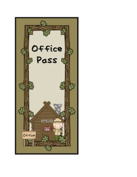 Camping Classroom Hall Passes