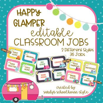 Camping Classroom Jobs-Classroom Theme Decor