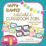 Camping Classroom Theme Editable Classroom Jobs