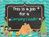 Camping Classroom Jobs Clip Chart