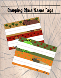 Camping Classroom Name Tags