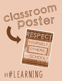 Camping Wood Classroom Respect Poster