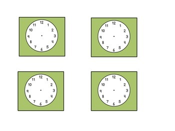 Camping Classroom Schedule Cards