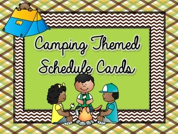 Camping Class Schedule Cards