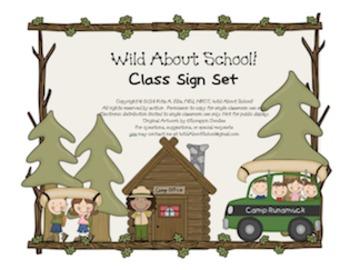 Camping Classroom Sign Set