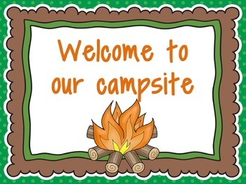 Camping Classroom Signs Freebie