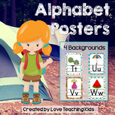 Camping Classroom Theme- Alphabet Posters