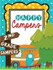Camping Classroom Theme Binder Covers and Inserts **editable**