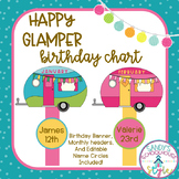 Camping Classroom Theme Birthday Banner and Chart