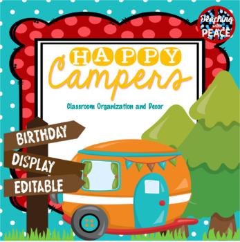 Camping Classroom Theme Birthday Display