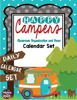 Camping Classroom Theme Calendar Set