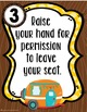Camping Theme Classroom Rules Posters **editable**