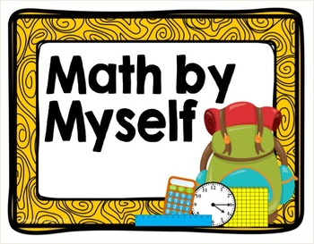 Camping Classroom Theme Daily Reading & Math Rotation Signs & Cards **editable**