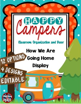 Camping Classroom Theme Going Home Display