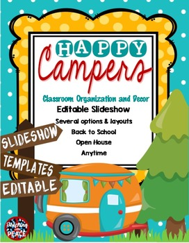 Camping Classroom Theme Slideshow Templates