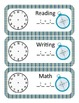 Camping Themed Classroom Schedule
