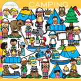 Summer Kids Camping Theme Clip Art