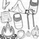 Camping Clip Art Bold Set (Digital Use Ok!)