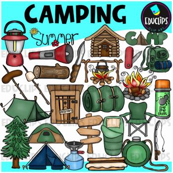 Camping Clip Art Bundle {Educlips Clipart}