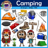 Camping Clip Art (Hiking, Backpacking, Outdoors, Survival,